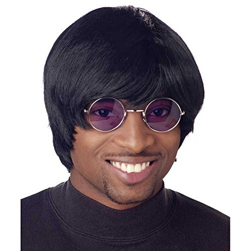Men's Black 60s Style Mod Wig