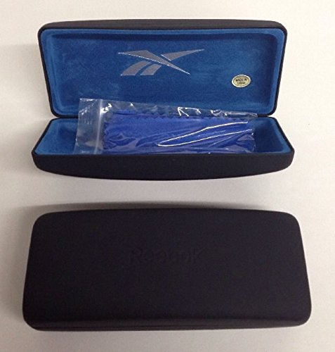 Lot of 2 Reebok Black Eyeglasses /Sunglasses Hard Case with Cleaning cloths - Sunglass Reebok