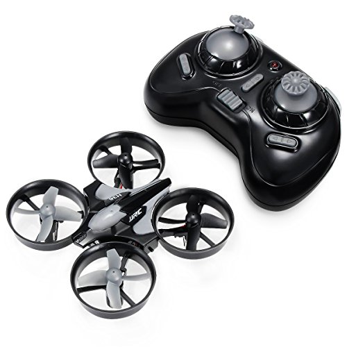 REALACC H36 Mini Quadcopter Drone 2.4G 4CH 6 Axis Headless Mode Remote Control UFO Nano Quadcopter RC Toy RTF Mode 2 (Grey)