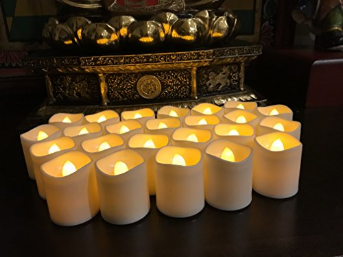 Flameless LED Tea Light Candles, Magicpro Battery-powered Unscented LED Tealight Candles, Fake Candles, Tealights, 24 Pack