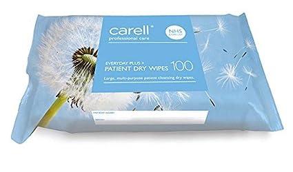 Carell - Toallitas secas para pacientes, 100 unidades
