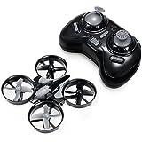 REALACC H36 Mini Quadcopter Drone 2.4G 4CH 6 Axis Headless Mode Remote Control UFO Nano Quadcopter RC Toy RTF Mode 2 (Grey)