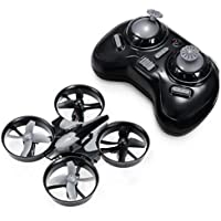 REALACC Mini Drone for Kids, JJRC H36 Mini Quadcopter Drone 2.4G 4CH 6 Axis Headless Mode Remote Control UFO Nano Quadcopter RC Toy RTF Mode 2 (Grey)