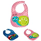SUPPION EVA Soft Baby Waterproof Bibs, Fantastic Animal Printing Kids Child Bibs Burp Cloths. Safety, Convenience, Health(3 Pack)