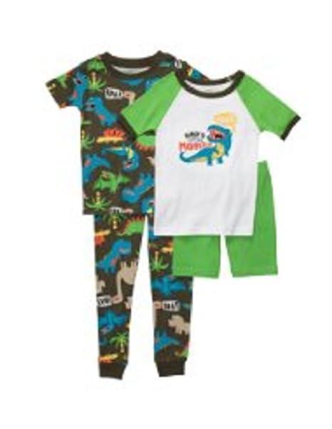 dca38b536 Amazon.com  Carter s Sleepwear Baby Boys 4 Pc Roar Dino Pajamas (Nb ...