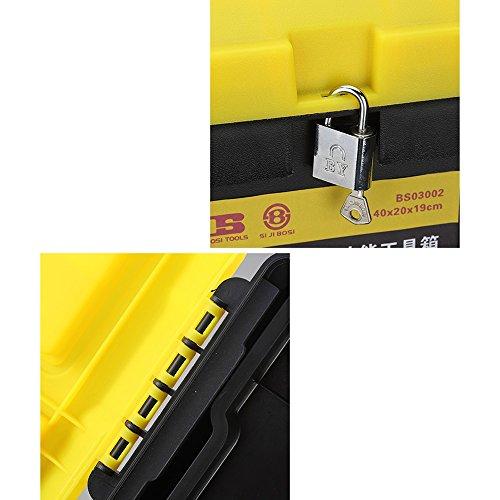 Kaiyu Cassetta Cassetta Cassetta portautensili portatile per attrezzi di plastica (Coloree   giallo, Dimensione   14 inches) | Di Prima Qualità  | attività di esportazione in linea  | Materiali Di Altissima Qualità  30fe5b