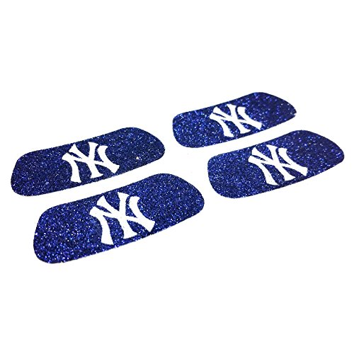 EyeBlack New York Yankees MLB Glitter Strips, Perfect for Game Day and Tailgate (4 Pairs/8 Strips)