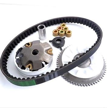 yunshuo variador embrague ventilador correa de transmisión para GY6 49 50 chino Scooter Ciclomotor 139QMB partes: Amazon.es: Coche y moto