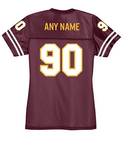 - KAMAL OHAVA Custom Women's Replica Football Jersey, 4XL, Maroon/Gold/White