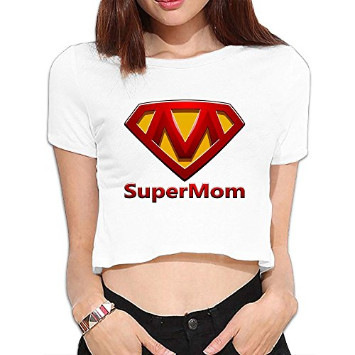 SAXON Women's Lovely Bright Mothers Day Bare Midriff Sexy Crop Top (Playmobil Kids Doll House)