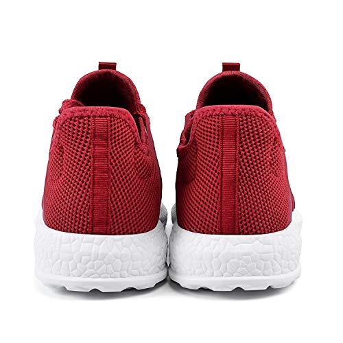 Libre de Rojo Zapatos Y Aire Blanco Deporte Deportivos al Zapatillas Casuales Hombre QANSI xzfXqaf