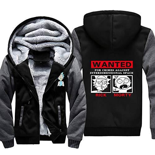 11 Sweat Morty shirt Pull Chaud Outwear Manteau Capuche Zipper Veste Polaire Mens Hommes À Rick And Tops Hoodie unisexe Hiver H5Z4fq