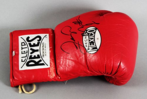 (Floyd Mayweather Jr. Ring-Worn, Signed Boxing Glove - JSA Full LOA)