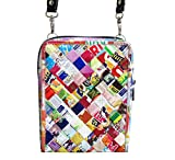 Small crossbody using candy wrappers - FREE SHIPPING Fair trade ethical special fun present presents cute finds inspiring ideas functional bags handbags shoulder sling wrapper wrap wraps gum sweets