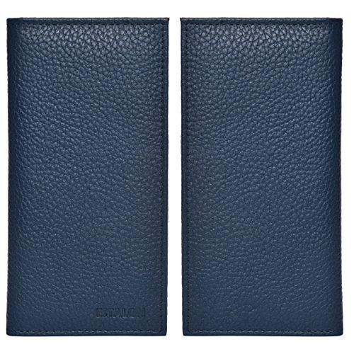 Leather Checkbook Cover Holder for Women - Standard Register Duplicate Checks RFID Card Slim Mens Wallet by Estalon (Image #5)