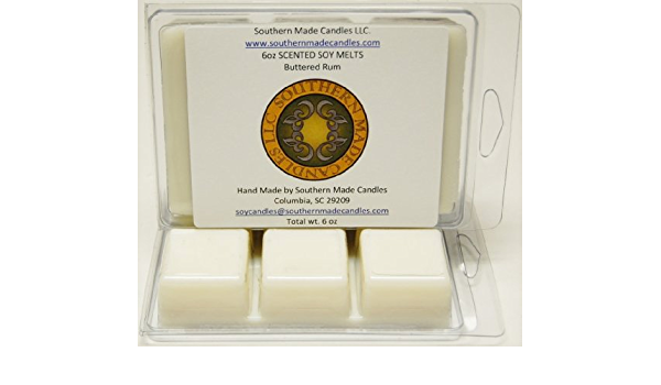 Buttered Rum Wickless Flameless Soy Warming Candle Melt 6oz