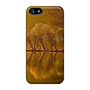 New Design Shatterproof DpSEp2393RuhtC Case For Iphone 5/5s (magical Light On An Autumn Lake)
