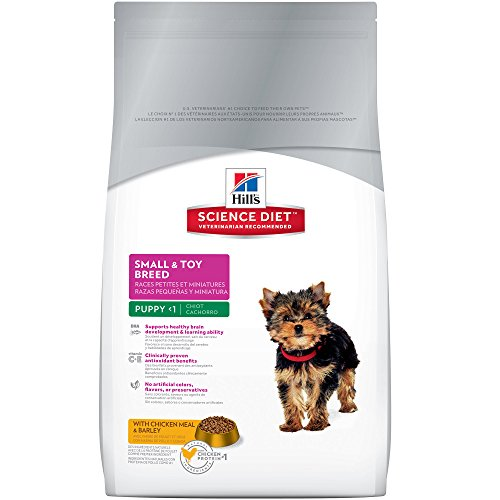 Hill's Science Diet Puppy Food, Small & Toy Breed Chicken Meal & Barley Dry Dog Food, 15.5 lb Bag (Breed Puppy Food Small)