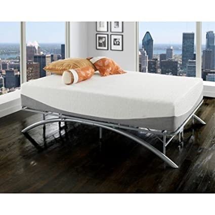 Perfect King Size Ellipse Arch Platform Bed Frame, Brushed Silver Finish, Bedroom  Furniture, Sturdy