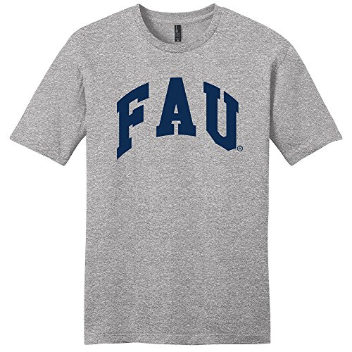 Campus Merchandise NCAA Florida Atlantic Owls Arch Soft Style T-Shirt, Large, Light Heather Grey ()