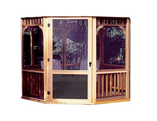 Handy Home Products San Marino Screen Kit for 10-Foot Gazebo (Screens & Door Only) Fiberglass Pergola