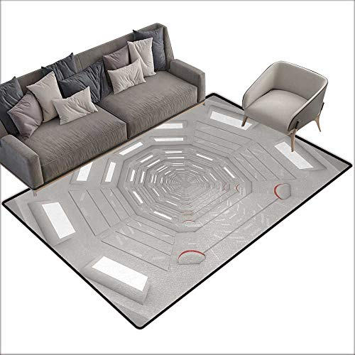 Floor Bath mat Outer Space Galactic Travel Atmospheric Plasma Cosmonaut Transportation Interior Design W67 xL90 Suitable for Bedroom, Living Room, Games Room, Foyer or Dining Room