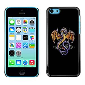 LASTONE PHONE CASE / Carcasa Funda Prima Delgada SLIM Casa Carcasa Funda Case Bandera Cover Armor Shell para Apple Iphone 5C / The Majestic Dragon