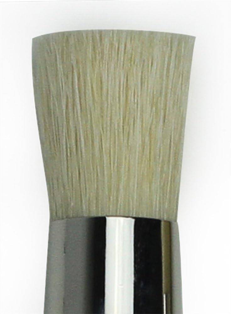 White Chinese Hog Bristle with Long Plainwood Handle da Vinci Graphic Design Series 113 Stencil Brush Size 2