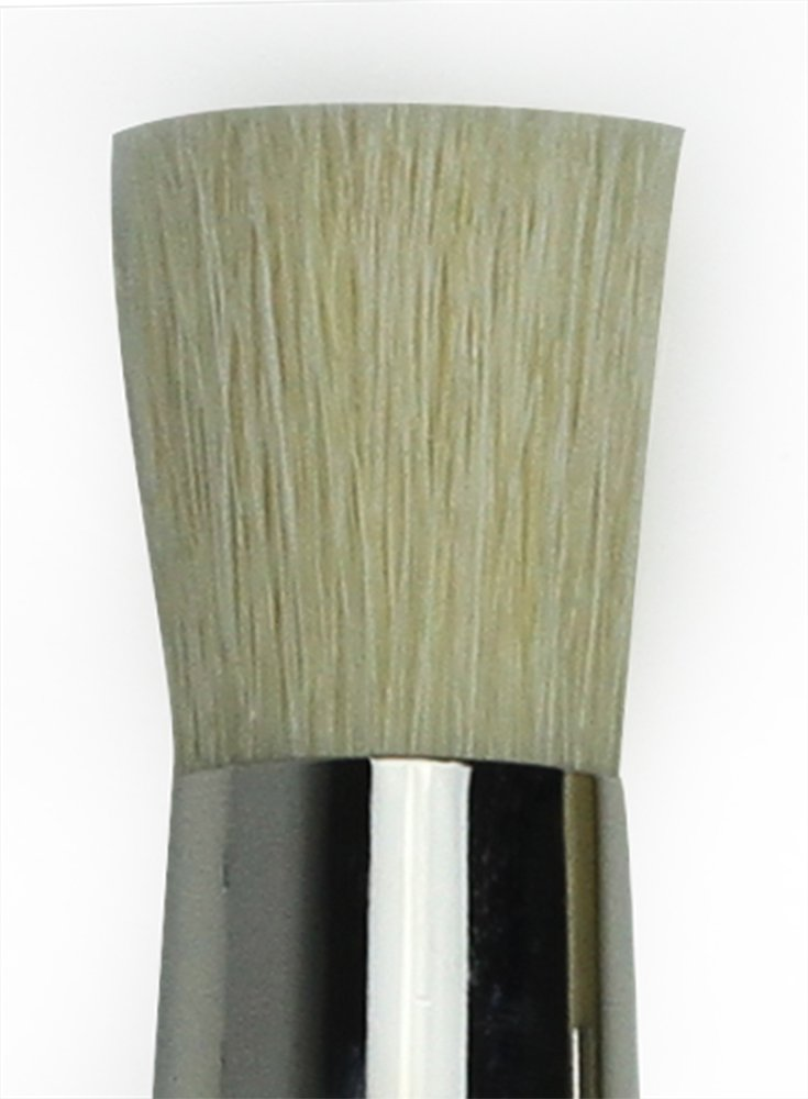 Size 4 White Chinese Hog Bristle with Long Plainwood Handle da Vinci Graphic Design Series 113 Stencil Brush