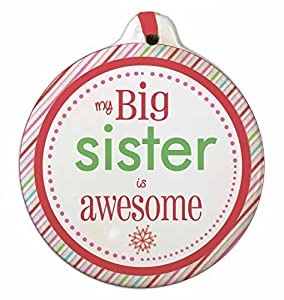 amazon com big and little brother and sister christmas ornaments