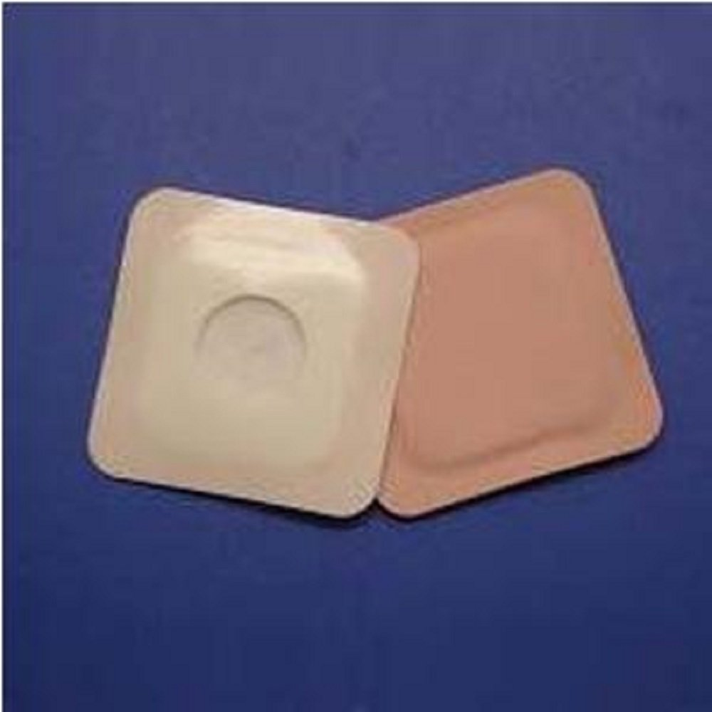 Austin Medical - AMPatch - Style E Stoma Cover 3'' x 3'' 1-1/8'' - Square - Round Center Hole