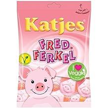 German KATJES Fred Ferkel -Pigs gummy bears- Pack of 2 - Total 400 g
