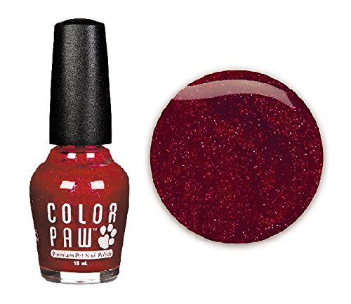 Color Paw Dog Nail Polish Water Chip Resistant Quick Drying Formula 14 Colors(Cranberry Crush)
