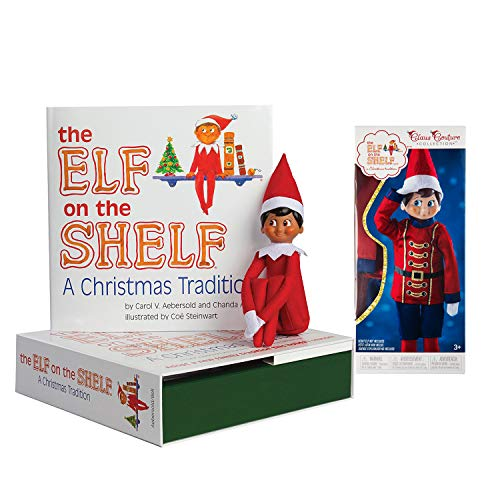 The Elf on the Shelf: A Christmas Tradition Boy Scout Elf (Brown Eyed) with Claus Couture Collection Sugar Plum Soldier Outfit
