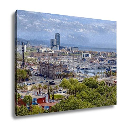 Ashley Canvas, Panorama Of The City Of Barcelona Spain, Home Decoration Office, Ready to Hang, 20x25, AG6375523 by Ashley Canvas