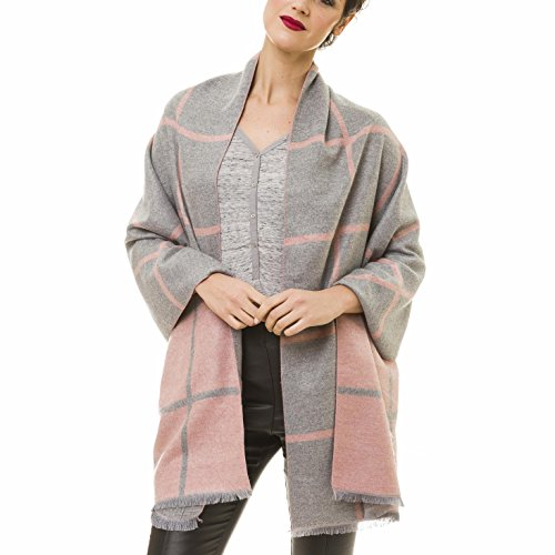 Scarf Checked Reversible Cashmere Elegant