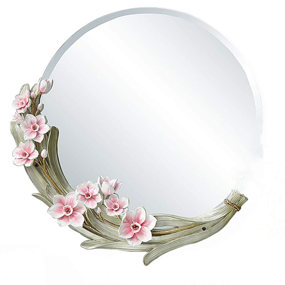 SXLL鏡 創造的なバスルームのミラーメイクアップミラー装飾的なバニティミラーラウンドの装飾ミラーの壁のバスルームミラー (色 : 白, サイズ さいず : 56cmx56cm) B07L2RR5VD 白 56cmx56cm