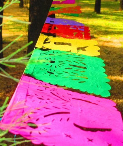 5 Pack Mexican Papel Picado Banner, Mexican Party Decor, Mexican Decorations]()