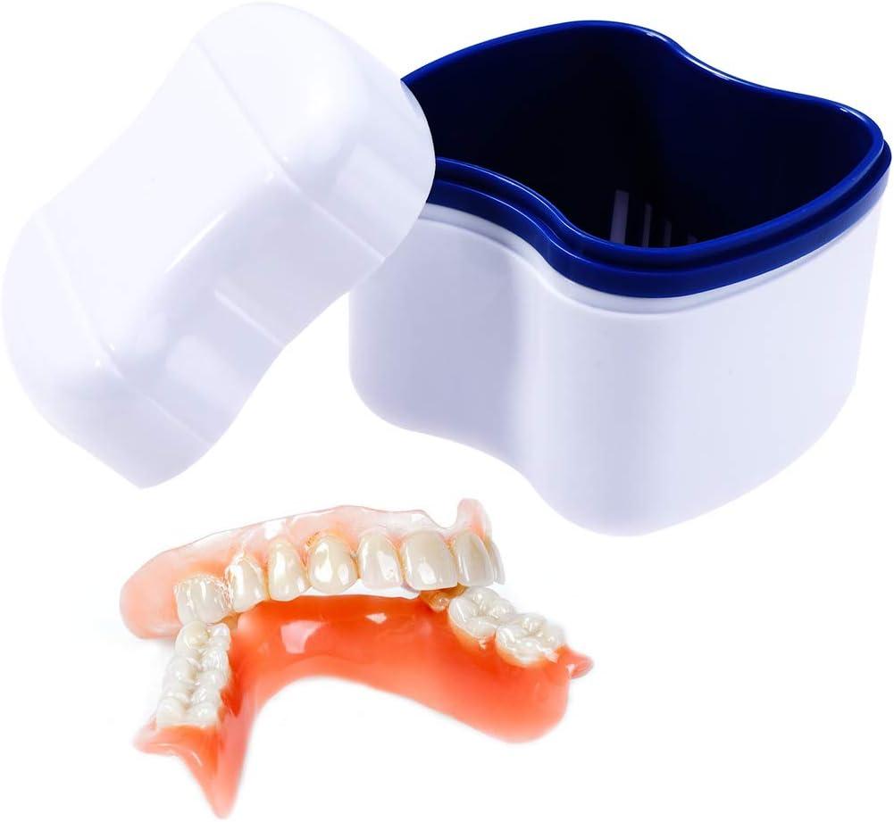 Healifty Caja para Ortodoncia Protesis Dental Dentadura Postiza Estuche para Retenedores Dentales Azul: Amazon.es: Salud y cuidado personal
