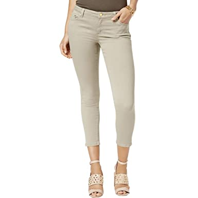 708cae07bb3b Image Unavailable. Image not available for. Color: Michael Michael Kors  Womens Izzy Cropped Mid-Rise Skinny Jeans ...