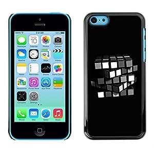 Andre-case AMAZING-BASE Smartphone Funny Back Image Picture case cover protective Black Edge for Apple Iphone 5C - ZMwBbkK07Jb Minimalist Rubik's Cube