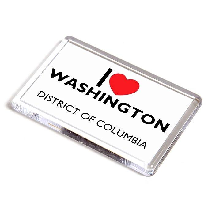 Imán para Nevera con Texto en inglés I Love Washington, Distrito ...
