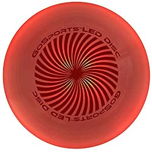 GoSports LED Light Up Flying Ultimate Disc, 175 grams, with 4 LEDs (Blue, Red, White or Green) by GoSports