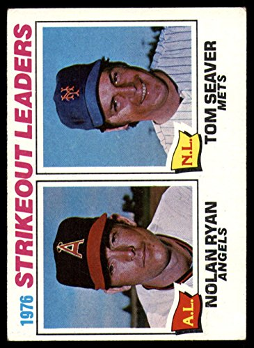 - Baseball MLB 1977 Topps #6 Nolan Ryan/Tom Seaver Strikeout Leaders Ex-Mint