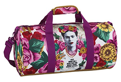 Frida Khalo Sportliche Tasche, Rosa/Weiß
