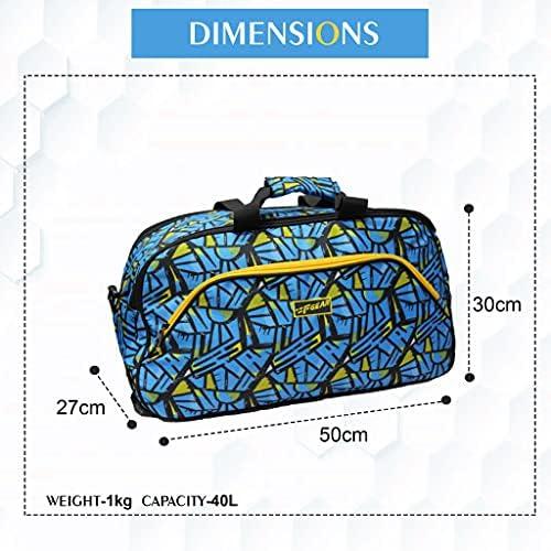 F Gear Mustang 20inch Wordly Blue Duffel Bag (3781)