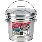 Behrens 6 Gallon Rust-Proof Steel Locking Lid Trash Can(6 gal) Made in USA