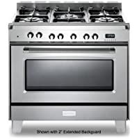 Verona VCLFSGE365SS 36' Classic Dual Fuel Range Oven European Convection Stainless Steel
