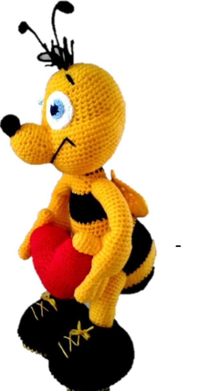 PATTERN: Cuddle-Sized Bumble Bee Amigurumi, Crocheted Honey Bee ... | 1224x625