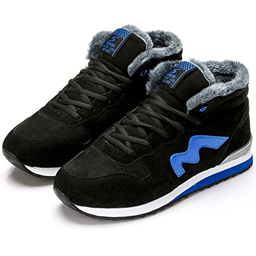 Winter Hiking Ankle Fur Snow Boot Lined Women Men Boots Eagsouni for Warm Shoes Sneaker Blue SwUgawq